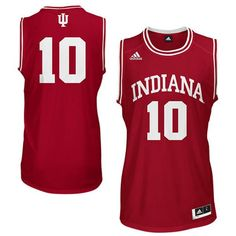 1f54be2e7 adidas Indiana Hoosiers  10 Replica Basketball Jersey - Crimson