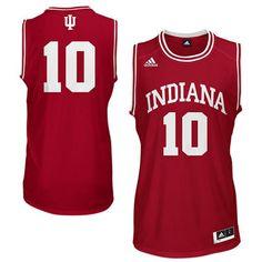 50061af866b74 adidas Indiana Hoosiers  10 Replica Basketball Jersey - Crimson