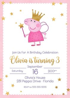 Peppa Pig is actually a British isles preschool super-hero television set set aimed and manufactured Peppa Pig Birthday Invitations, Pig Birthday Cakes, 3rd Birthday Parties, 2nd Birthday, Invitacion Peppa Pig, Cumple Peppa Pig, Pig Party, Picnic Recipes, Picnic Ideas