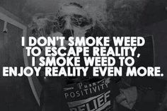 !!!!! exactly! i know i can't escape my reality, that's just common sense. stoners, where yall attt