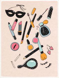 cosmetic illustrations