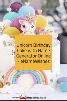 Write name on Unicorn Birthday Cake with Name Generator Online with Name And Wishes Images and create free Online And Wishes Images with name online.