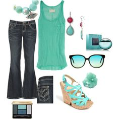 Aqua 2, created by cathyross1963 on Polyvore