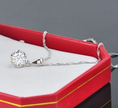 Free shipping - 925 Sterling Silver Flower Zircon Necklaces For Women Gift Nickel Free