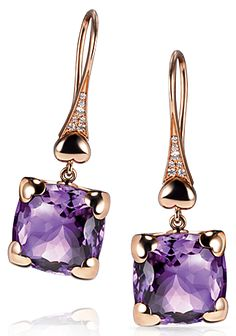 "Pasquale BRUNI-""Madame Eiffel"" collection-Amethyst and diamonds earrings."