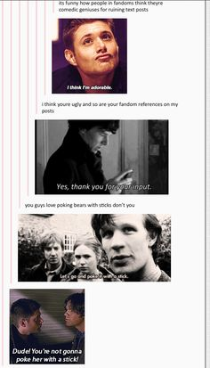 It's funny how other humans think what they say is going to stop the fandoms - the power of SuperWhoLock on Tumblr