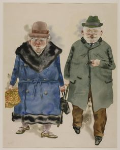 George Grosz - A Married Couple 1930... You & me, Baby. We're not getting rounder, just a little more square in our old age.