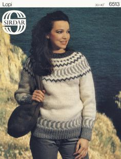 Fair Isle Pullover Sweater Vintage Knitting Pattern for download Bust 30-40
