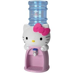 Keep your household hydrated with this adorable Hello Kitty Water Dispenser. This Hello Kitty Water Dispenser dispenses 8 glasses of water or any other beverage. Sanrio Hello Kitty, Hello Kitty Items, Hello Kitty Stuff, Hello Kitty Room Decor, Hello Kitty Products, Hello Kitty Makeup, Drink Dispenser, Water Dispenser, Drink Holder