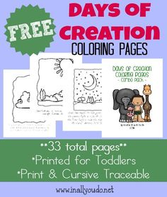 *FREE* Days of Creation Coloring Pages