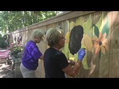 Sunflower Fence Mural! - YouTube