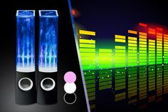 Novel idea for a Christmas present - coloured water moves up and down to the sound of your music!!