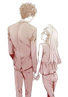 Grownup Akira and Futaba . I ship them so much this is just perfection makes me smile everytime