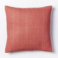 Silk Hand-Loomed Pillow Cover - Rose Bisque | West Elm