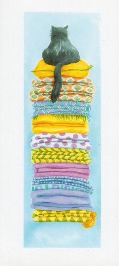 entre almohadones, ilustración de  Wendi Fyers