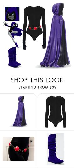 """Teen Titans Raven Cosplay"" by c0smicgal ❤ liked on Polyvore featuring I.D. SARRIERI and Qupid"