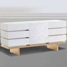 Superior Nurseryworks 3 Wide Dresser In Snow With Light Platform U0026 Circle Doors    Click To Nice Ideas