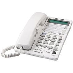 PANASONIC KX-TS208W Integrated Corded 2-Line Telephone System with Hearing Aid Compatibility & 16-Digit LCD R810-PANKXTS208W