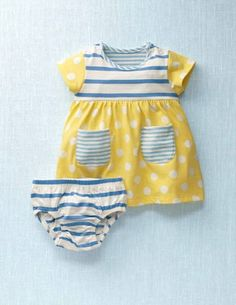 Cute yellow and blue summer dress