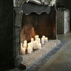 bluepueblo:  Fireplace Candles, Amsterdam, The Netherlands photo via vive