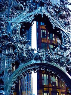 Detail from the Carson, Pirie, Scott and Company Building in Chicago, Illinois designed by architect Louis Sullivan, 1899. (Source/reblog via - floridsoul)
