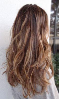 Resultado de imagen para blonde highlights on wavy hair