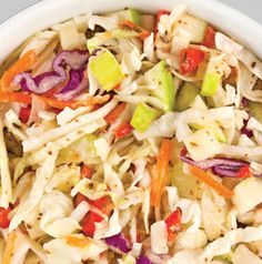 Love this Sweet and Sour Slaw. It works really well as a side dish, of course, but it also makes the perfect topping for pulled pork sandwiches. It can be made ahead as well.