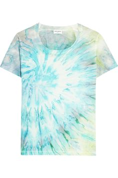 Shop on-sale Saint Laurent Tie-dyed cotton-jersey T-shirt. Browse other discount designer Tops & more on The Most Fashionable Fashion Outlet, THE OUTNET.COM