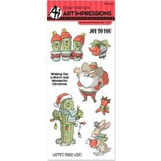 Art Impressions Clear Stamp Set - Southwest Christmas 4787 by PNWCrafts on Etsy