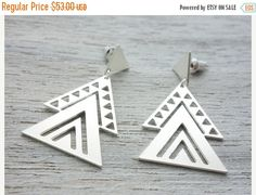 Pre-holiday sale Aztec Earrings Mexican tribal by shlomitofir