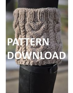 SNOW DAY  Boot Cuff Nested Cables Pattern by GranDomestika on Etsy, $6.00