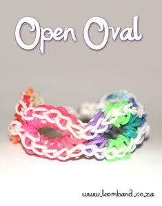 open oval loom band bracelet tutorial- Loomband