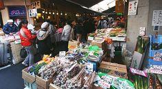 Tsukiji Fish Market Tokyo on our Honeymoon -  March 2012