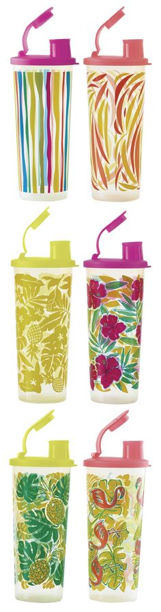Tropical Glamour Tumblers. Sip in style.  get yours at Angiecook.my.tupperware.com