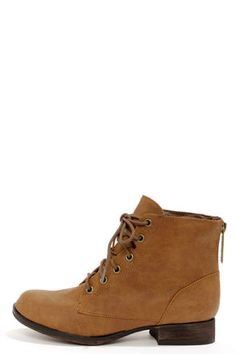Georgia 43 Tan Lace-Up Ankle Boots at LuLus.com!  Outfit #4  #lulus  #holidaywear