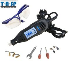 TASP 130w Rotary Tool Variable Speed Mini Drill with Accessories