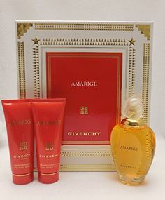 Awesome Amarige by Givenchy for Women 3 Piece Set Includes: 3.3 oz Eau de Toilette Spray + 2.5 oz Silk Body Veil + 2.5 oz Gentle Bath Gel