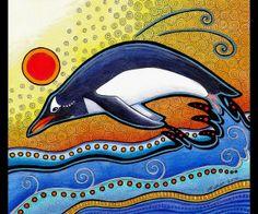 Red Circle Gentoo Penguin by Ravenari