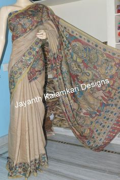 Kalamkari patch work saree