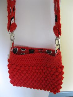 Popcorn crocheted bag from ThornBerry