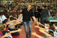 Mauro Berruto, ct della nazionale maschile, alla Festa di presentazione (30 settembre 2012, PalaFabris)