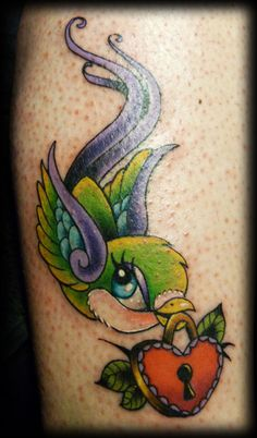 Swallow tattoo by candy Cane