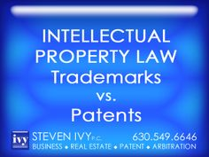 TRADEMARKS vs. PATENTS --- Inventors obtain patents to prevent others from using, or commercially exploiting, their invention. The main focus is on prevention of unauthorized practical application of the newly developed technology. Trademarks, on the other hand, are not concerned with how a new technology is used. Rather, they protect names and logos of products and services, used to identify the source of goods or services and distinguish them from the competition.