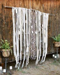 boho yarn hanging