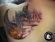 Temporary Colored Harry Potter Tattoo Von Aneta