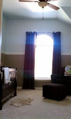 brown & blue baby room