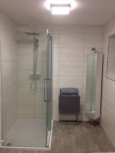 New Bathroom Walk In Shower Swivel Cupboard Grey Chrome Modern