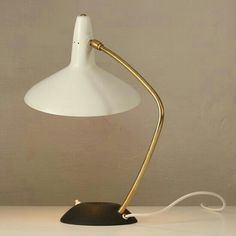 Carl Auböck; Enameled Metal and Brass Table Lamp, 1950s.