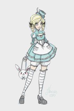 Gothic Lolita drawing