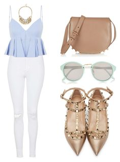 """""""Alexander Wang Top and Bag"""" by tania-alves ❤ liked on Polyvore featuring Topshop, Alexander Wang, Valentino, River Island and Sole Society"""